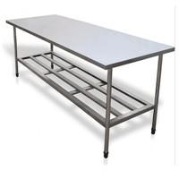 mesa inox com grade inferior