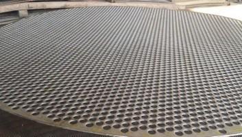 tela perfurada de aço